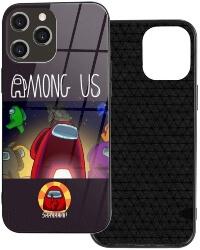 Funda movil iphone 12 personajes con nave espacial y impostor shhhhhhh Among Us