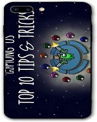 Funda movil iphone 7 y 8 personaje verde con sombrero y pistola Among Us