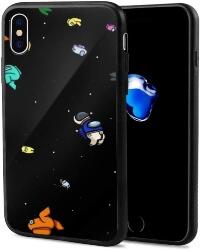 Funda movil iphone X personajes mini en el espacio Among Us