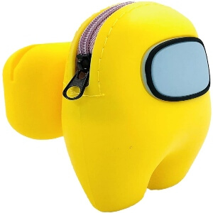 Funda para los auriculares inalambricos personaje amarillo Among Us