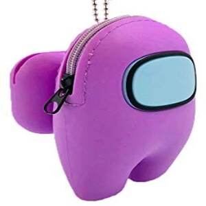 Funda para los auriculares inalambricos personaje morado Among Us