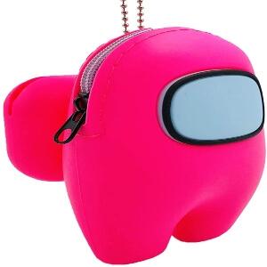 Funda para los auriculares inalambricos personaje rosa Among Us