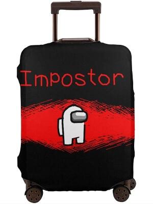 Funda para maleta personaje blanco impostor Among Us
