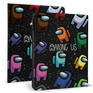 Funda para tablet personajes de Among Us en el espacio