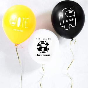 Globos fiesta Among Us