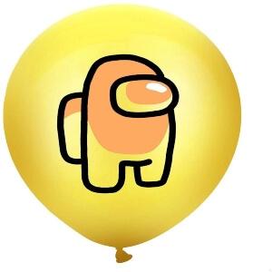 Globos personaje amarillo Among Us