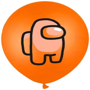 Globos personaje naranja Among Us