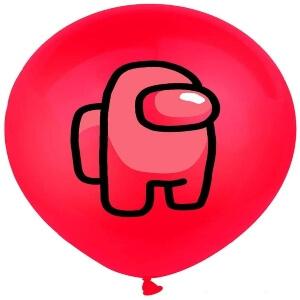 Globos personaje rojo Among Us