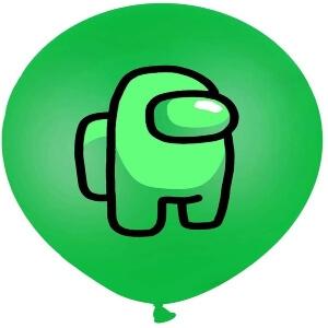 Globos personaje verde Among Us