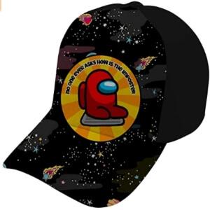 Gorra personaje rojo en alcantarilla Among Us