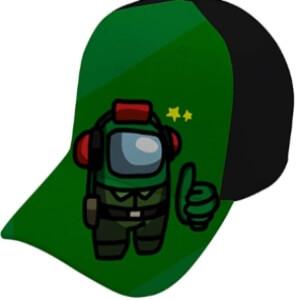 Gorra personaje verde Among Us