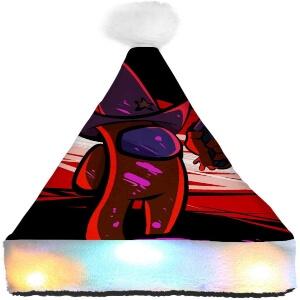 Gorro Navidad personaje con sombrero y pistola Among Us