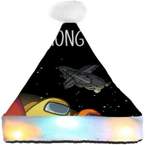 Gorro Navidad personajes con nave espacial Among Us