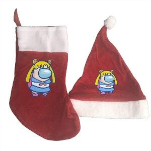 Gorros de Navidad con medias de Navidad Among Us