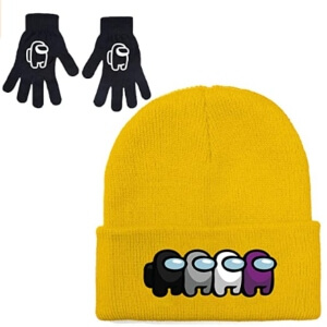 Guantes y gorros personajes Among Us