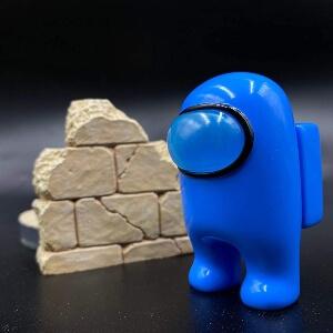 Juguete personaje azul realista Among Us
