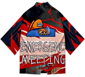 Kimono emergency meeting Among Us