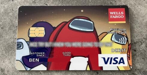 La tarjeta bancaria de Among Us