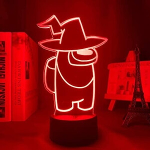 Lampara personaje con sombrero de bruja Among Us
