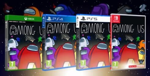 Las ediciones fisicas de Among Us para Playstation, Xbox y Nintendo Switch