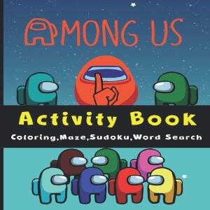 Libro actividades personajes dibujos Among Us