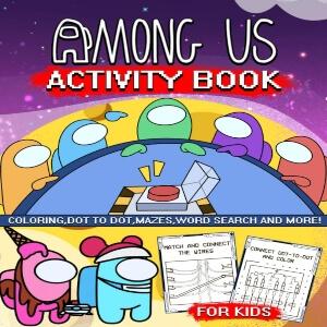 Libro de actividades para niños Among Us