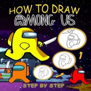 Libro dibujar diferentes personajes Among Us