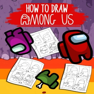 Libro dibujar personajes del juego Among Us