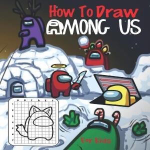 Libro dibujar personajes navidad Among Us