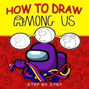 Libro dibujar personajes paso a paso Among Us