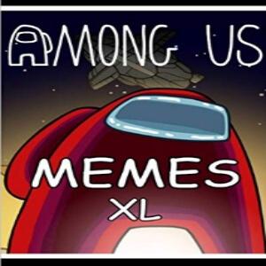 Libro memes XL personaje rojo gigante Among Us