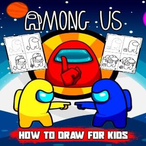 Libro para dibujar para niños Among Us