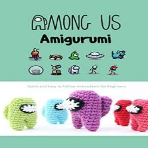 Libro tutorial para hacer amigurumis handmade personajes Among Us para principiantes