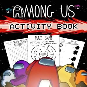 Libros de actividades para niños de Among Us