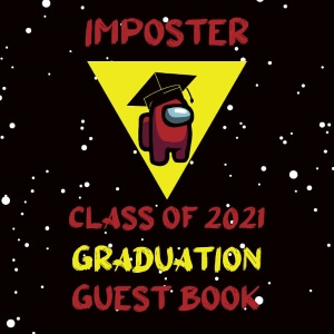 Libros de graduacion personaje rojo de Among Us 2021