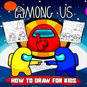 Libros para dibujar de Among Us