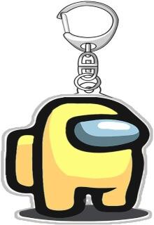 Llavero acrilico personaje amarillo Among Us