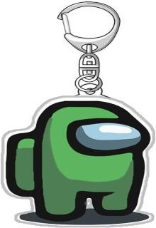 Llavero acrilico personaje verde Among Us