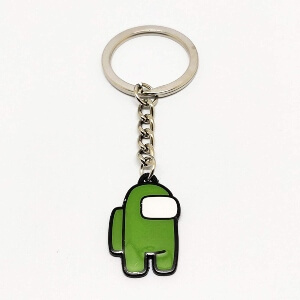 Llavero personaje verde Among Us