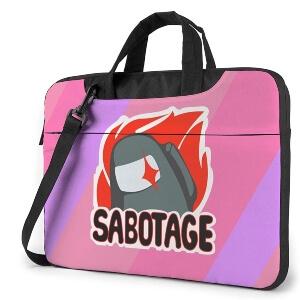 Maletin sabotage rojo y rosa Among Us