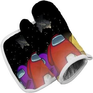 Manoplas personajes con nave espacial Among Us
