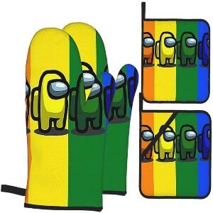 Manoplas y soportes ollas personajes diferentes colores Among Us