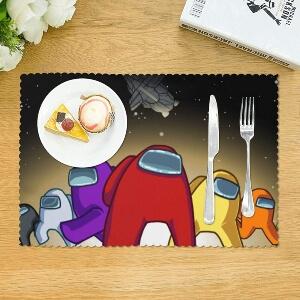 Mantel con comida Among Us