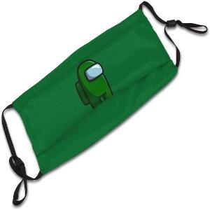 Mascarilla personaje verde Among Us