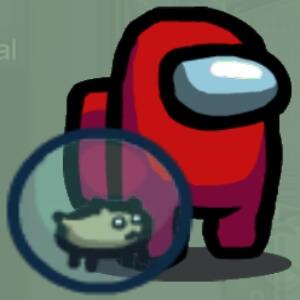 Mascota hamster Among Us