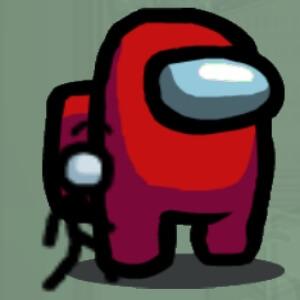 Mascota personaje sencillo Among Us