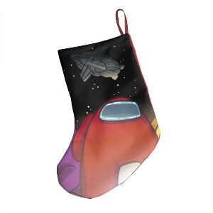 Media Navidad personaje rojo con nave espacial Among Us