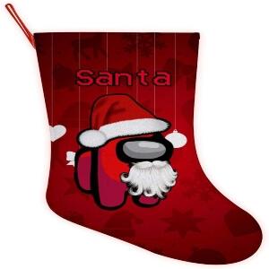 Media Navidad personaje rojo santa Among Us