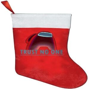 Media Navidad personaje rojo trust no one Among Us
