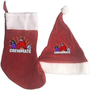 Media y gorro Navidad personajes crewmate Among Us
